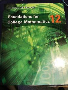 Foundations for College Mathematics 12 textbook