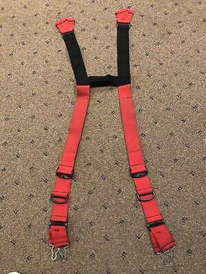 Honeywell Firefighter Turnout Bunker Gear Suspenders. Sizer Free Ship Usa