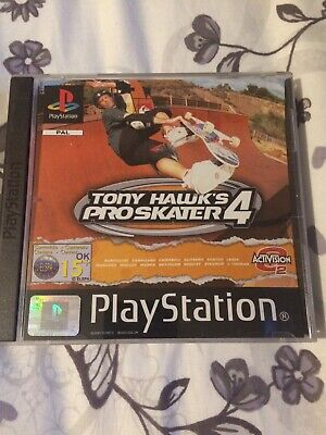 Tony Hawk's Pro Skater 4 PS1 PlayStation  Complete With Manual
