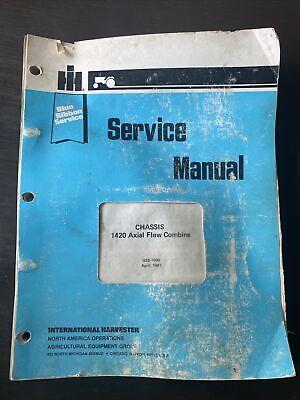 International Harvester 1420 Axial Flow Combine Service Repair Manual Book Shop