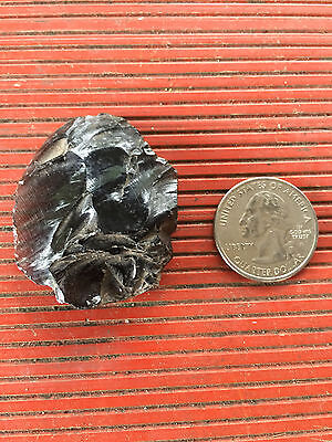 PRE COLUMBIAN MAYAN OBSIDIAN CUTTING TOOL  FROM ESTATE COLLECTION   AUTHENTIC