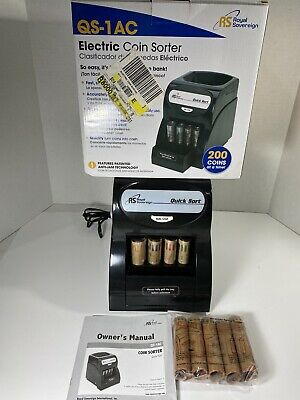 Royal Sovereign Qs-1ac Electric Anti-jam Coin Sorter Quick Sort Manuals Tested