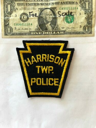 Harrison Pennsylvania Police Patch (TWP) un-sewn in great shape