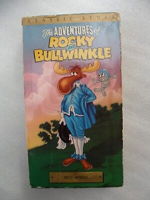 Vintage The Adventures Of Rocky And Bullwinkle Volume 4 Blue Moose Vhs Tape