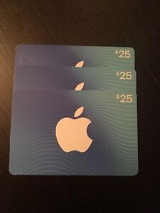 75$ App Store & iTunes gift cards