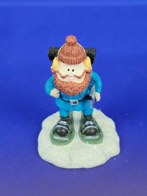"Hawthorne Village Rudolph Christmas Town ""Snow Shoes"" Lumber Jack"