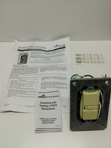 COOPER CROUSE-HINDS, GFS1 M4 GROUND FAULT CIRCUIT INTERRUPTER, 120VAC