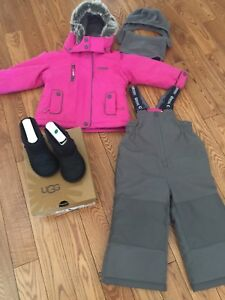 Ugg boot and snowsuit