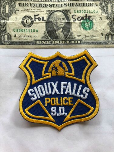 Sioux Falls South Dakota Police Patch un-sewn in great shape