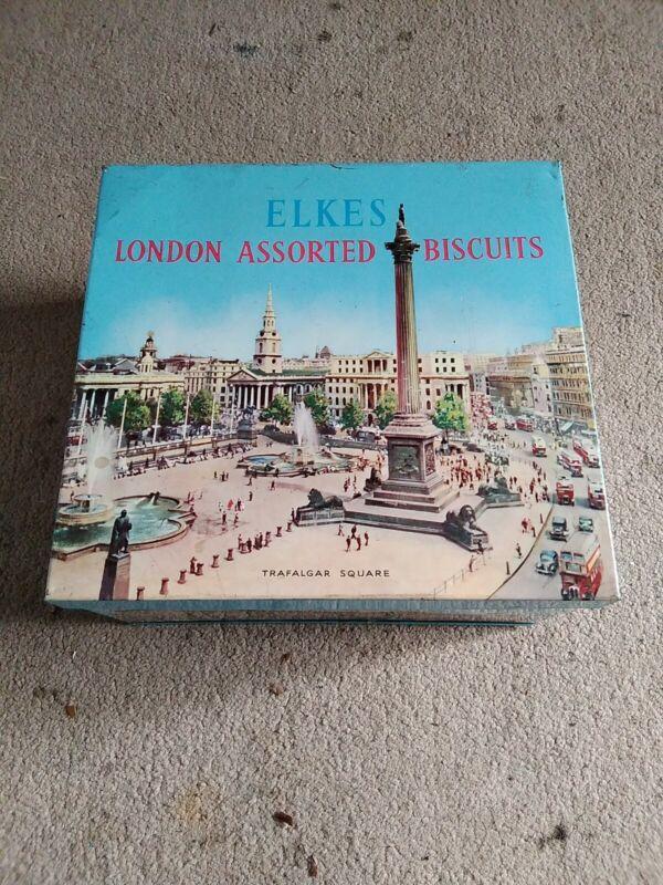 Vintage Elkes London Assorted Biscuit Tin