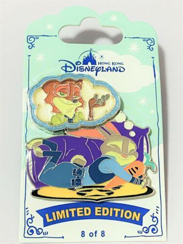 HTF Disney HKDL Dreaming Series Zootopia Judy n Nick LE 500 pin (Set Lot)