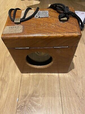 vintage antique pigeon timer clock with lovely wooden case Edward Wilkinson Rare