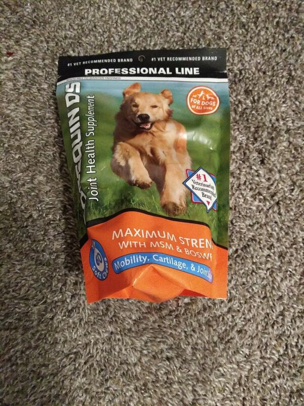 COSEQUIN COSQSC60-MSM Health Supplement Soft Chews for Dogs - 60 Count exp 06/21