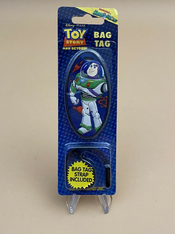 Vintage Disney 1996 ~ Toy Story ~ Buzz Lightyear ~ Rubber Luggage Bag Tag ~ NEW!