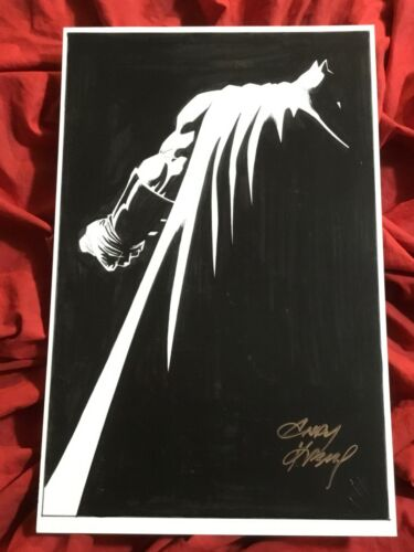 BATMAN THE DARK KNIGHT MASTER RACE COVER ART PRINT~SIGNED BY ANDY KUBERT~