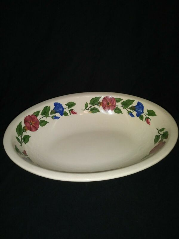 "Shenandoad Ware Paden City Morning Glory 9"" Oval Vegetable Serving Bowl"
