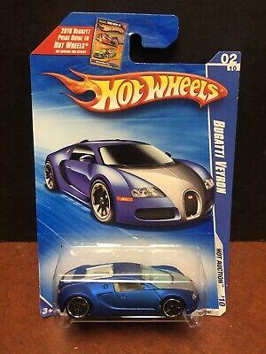 Hot Wheels 2010 Satin Blue Bugatti Veyron Dela2742