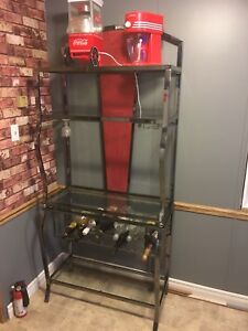 chrome wine rack and shelves from Texas