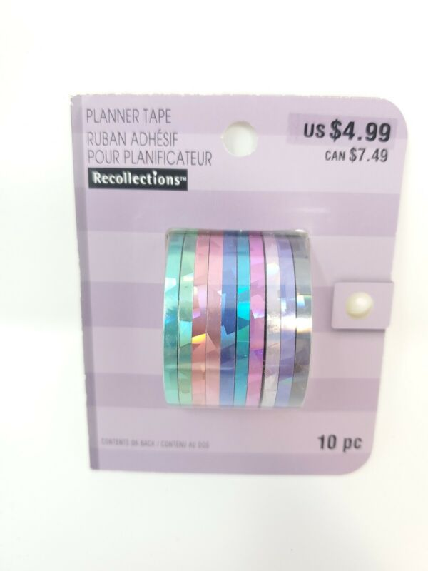 Recollections Planner Washi Tape - 10 Ribbons Reflective