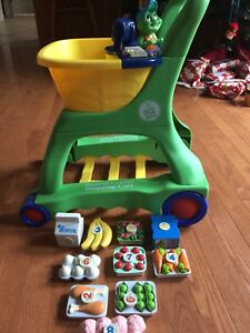 Leap Frog  Interactive shopping cart set.