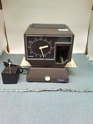 Amano Tcx-21 Time Clock Punch - Works - No Key