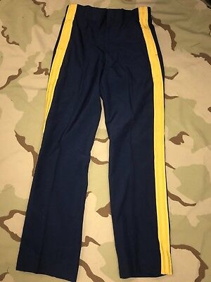 US ARMY TROUSERS DRESS BLUE PANTS SUSPENDERS GOLD STRIPE OFFICER ENLISTED Army Dress Blue Pants