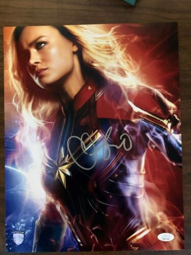 Captain Marvel Brie Larson Autographed Signed 11x14 Photo JSA COA #3