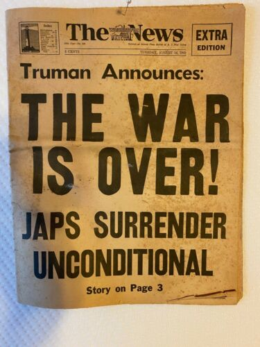 WAR is Over - WWII - (6) Large Newspapers - Collection - LOOK