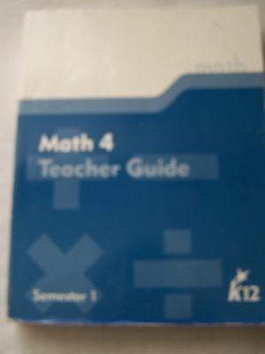 K12 Math 4 Semester 1 Teacher Guide