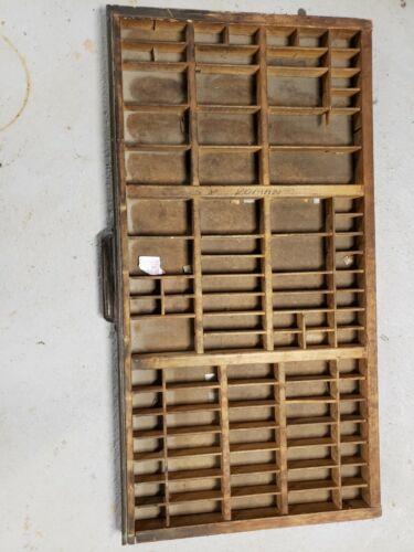 Antique Hamilton Letterpress Type case Drawer #1