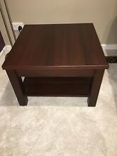 Two matching chocolate brown coffee tables Hallam Casey Area Preview