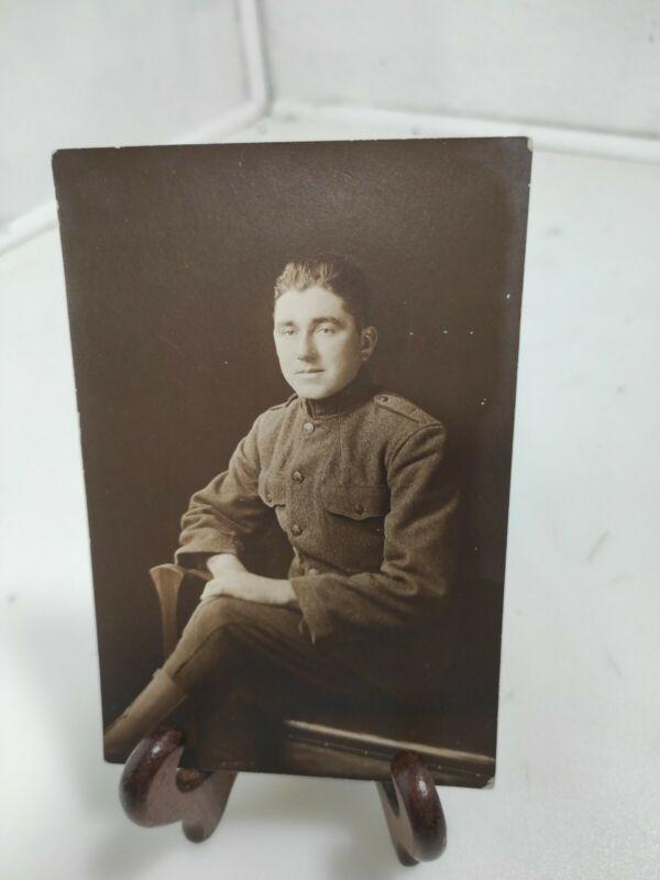 "WW1 SITTING SOLDIER Portrait, 4x6"""