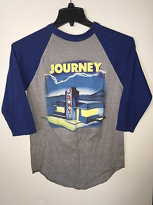 Vintage JOURNEY 1986 Raised On Radio TOUR CONCERT JERSEY SHIRT Steve Perry 80s