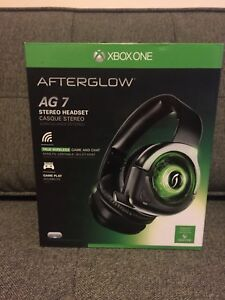 BNIB PDP Afterglow AG 7 Wireless Stereo Headset for XBOX ONE!