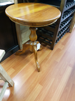 Small round occasional table wine table solid timber