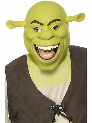 Adult Licensed Shrek Mask Mens Halloween Fancy Dress Costume Party Accessory