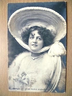1905 Postcard- Actress MISS MARIE STUDHOLME + Stamp