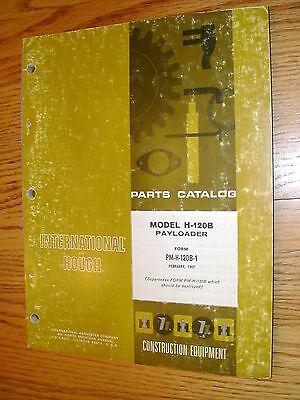International Hough H-120b Parts Manual Book Catalog Wheel Payloader Guide List