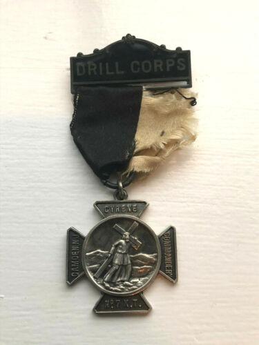 Antique Sterling Silver Masonic Knights Templar Drill Corps Medal Camden, NJ