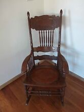 Antique Wooden Rocking Chair Nowra Nowra-Bomaderry Preview