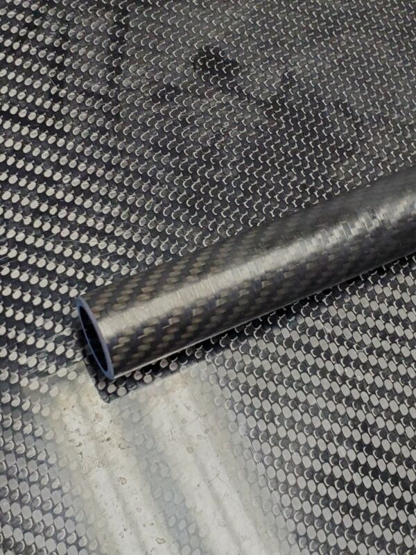Carbon Fiber Tube Twill Weave 0.875 x 1.112 x 5.75 inch  (listed 8-27-19)