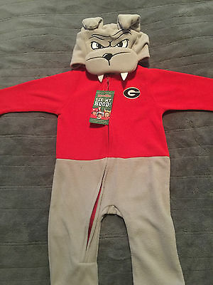 Georgia Bulldogs Infant Mascot Wear Sleeper costume Full zip toddler  (Baby Bulldog Costume)