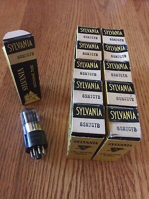 NOS NIB Matched Quad RCA 12SN7GT Black Plate Audio Tubes USA 1959
