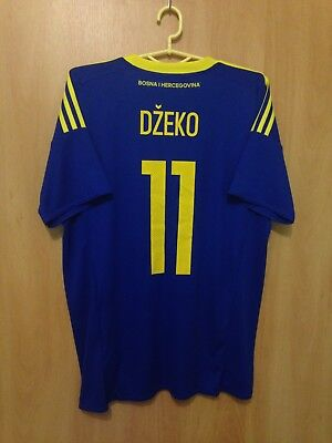 BOSNIA AND HERZEGOVINA 2016/2017 HOME FOOTBALL SHIRT JERSEY EDIN DZEKO #11 image