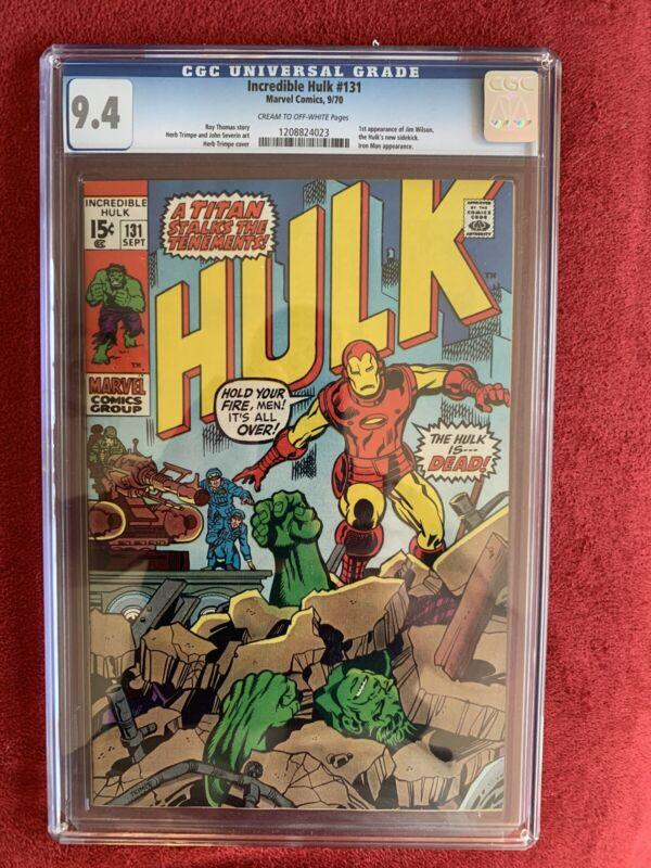 Incredible Hulk #131 CGC 9.4 1st Appearance Jim Wilson. High quality key issue!