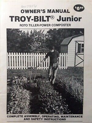 Troy-Bilt Walk-Behind Junior Roto Tiller Owners & Parts (4 Manual s) Garden-Way for sale  Shipping to Canada