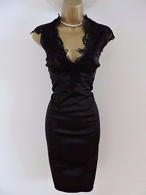 Size 16 Karen Millen Lace Applique Black Pencil Dress  for sale  Shipping to South Africa