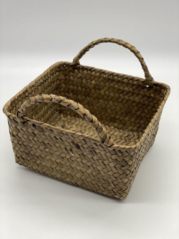 Boho Farmhouse Cottage Core Woven Basket