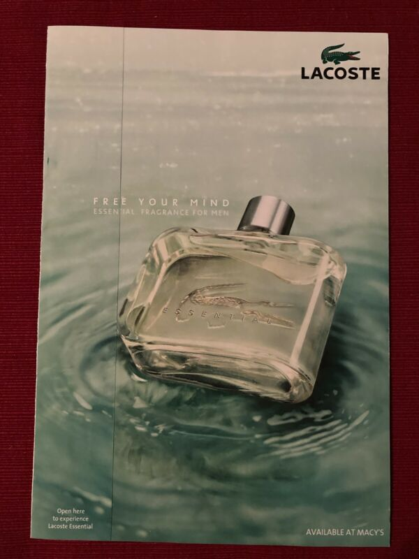 LaCoste Essential Men's Cologne 2008 Ad/Poster Promo Art Ad