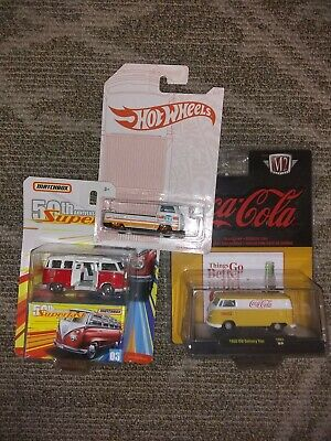 M2 Machined Coca Cola  1960 VW Delivery Van  2018 YELLOW matchbox VW hot wheels